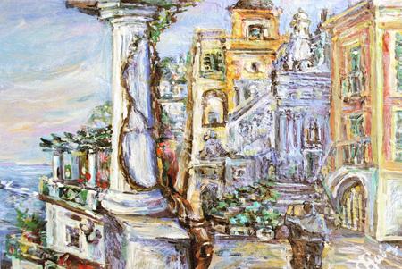 The authors original image Capri oil on a canvas.