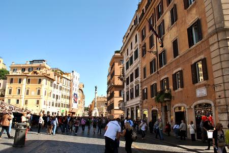 Piazza di Spagna at summer tourist season