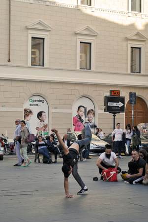 Street dance at Rome