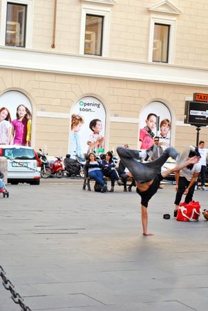 Street summer dance at Rome