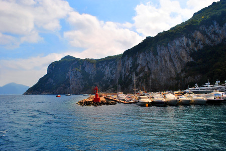 View the Capri from the boat.