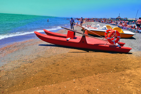 Reliability and protection of the people having a rest on the beach will be provided by lifeboats.