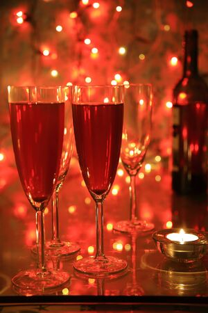 Champagne in glasses Stock Photo - 9488087