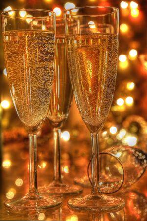 Champagne in glasses. photo