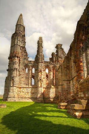 whitby: Whitby Abbey, ruin of medieval monastery  Stock Photo