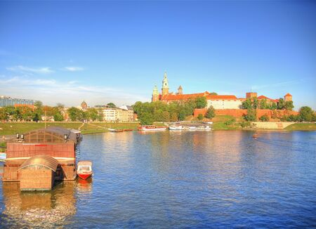 cracow: Castle Wawel in Cracow. Stock Photo