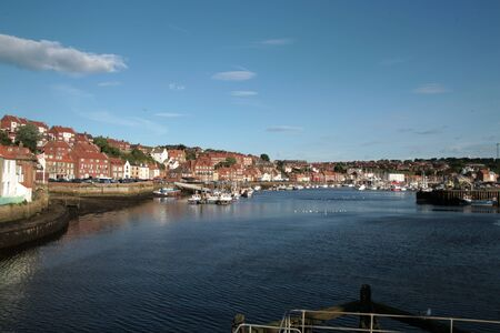 whitby: Whitby in North Yorkshire, UK