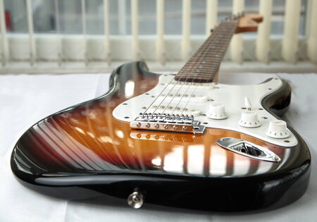 Electric guitar. Stock Photo