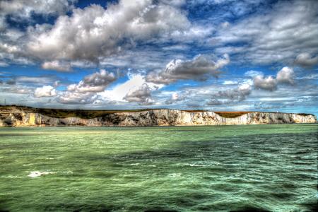dover: Cliff in Dover. Stock Photo