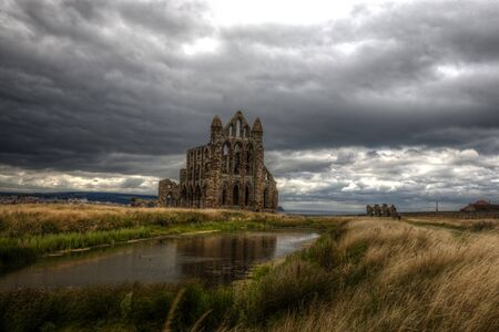 the abbey: Whitby Abbey.