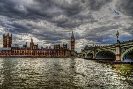 archtecture: Palace of Westminster. London. Stock Photo