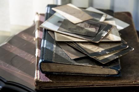 Photos et livres. Banque d'images