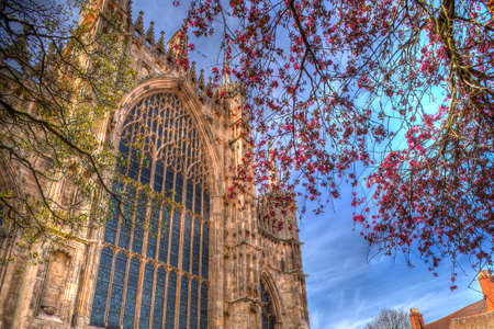 european culture: York Minster Cathedral. Stock Photo