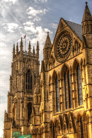 minster: York Minster Cathedral. Stock Photo