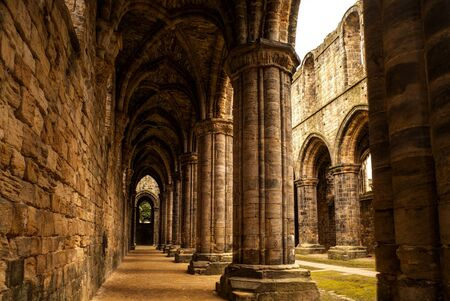 kingdom: Kirkstall Abbey. Leeds, United Kingdom. Stock Photo