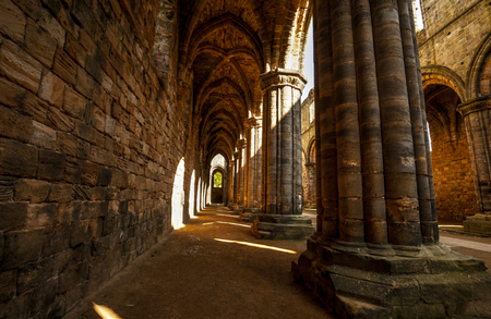 Kirkstall Abbey in Leeds, Great Britain.