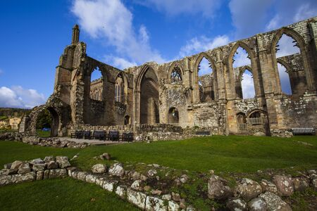 Medieval ruin of Bolton Abbey, North Yorkshire.