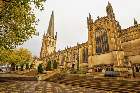 Wakefield Cathedral in North Yorkshire,Great Britain.