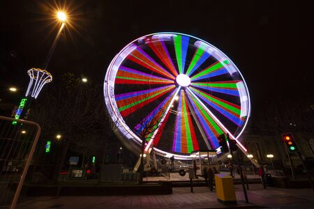 View wheel in Leeds at Christmas.