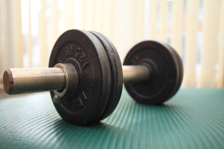 Close-up of dumbbell. Фото со стока