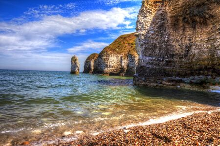 Cliffs of Flamborough, Yorkshire, Great Britain. Фото со стока