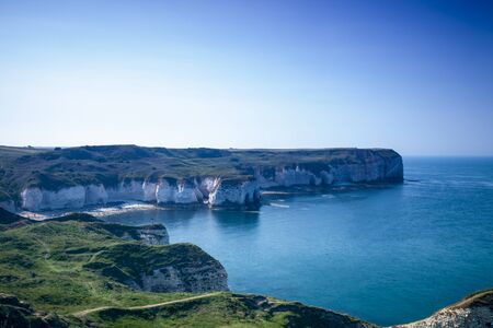 View of Flamborough Cliffs, Yorkshire, Great Britain.