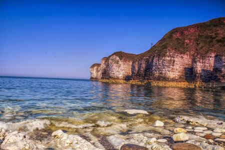 View of Flamborough Cliffs. Yorkshire, Great Britain.