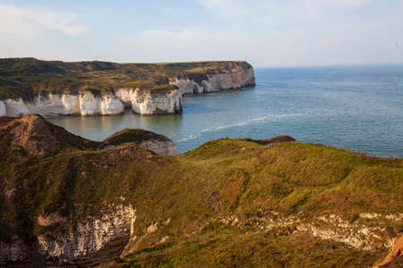 Cliffs of Flamborough. Yorkshire, Great Britain. Фото со стока