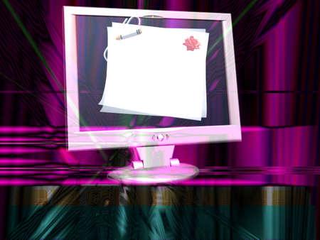 schermo: messaggio