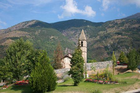 villaggio in montagna Archivio Fotografico