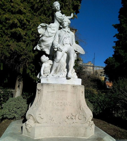 Sculpture honors Fragonard France