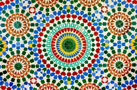 marocchini: colorato marocchino parete a mosaico, come un bel sfondo Archivio Fotografico