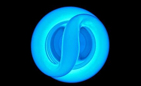 A florescent bulb showing an