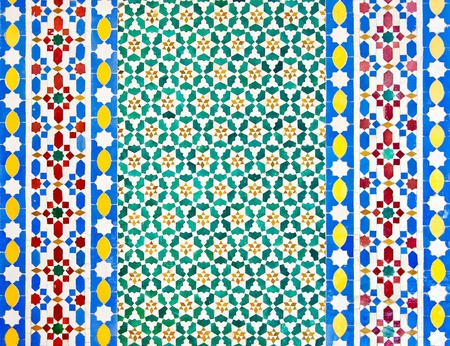 moroccan culture: colorful moroccan mosaic wall as a nice background