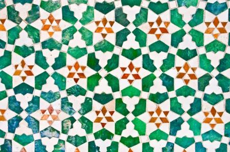marrakesh: colorato marocchino parete a mosaico, come un bel sfondo Archivio Fotografico