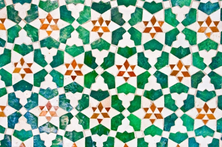 colorful moroccan mosaic wall as a nice background photo
