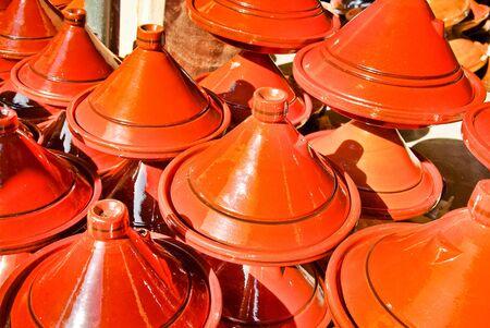 Moroccan ceramic cookware / tajines at the market