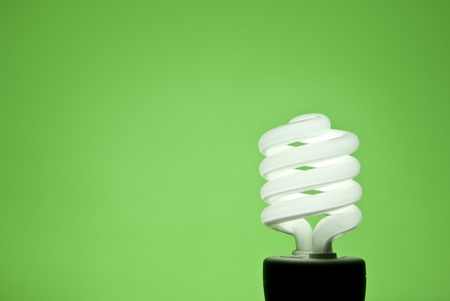 A florescent bulb symbolizing the saving energy of and money Stock Photo - 12099114