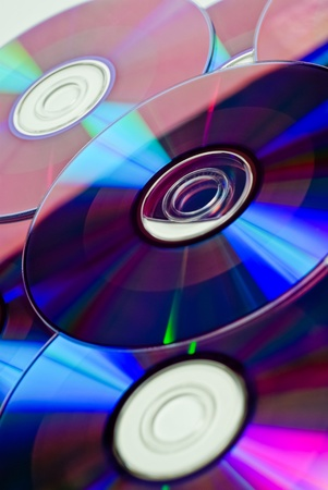 dvds: Stack of Cds and DVDs Stock Photo