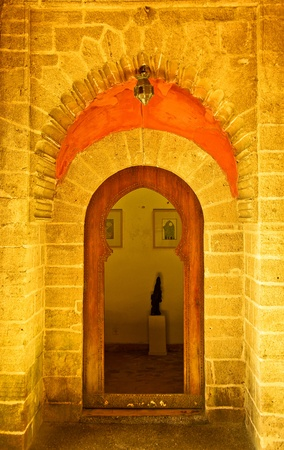 Moroccan traditional entrance door  gate Stock Photo