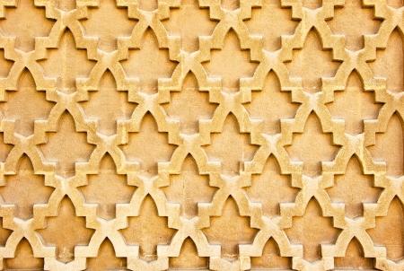 islamic art: Seamless oriental wall pattern as a background