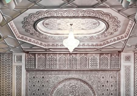 Décoration d'intérieur / détail d'une mosquée marocaine Banque d'images - 12092444