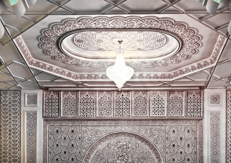 Interior decoration  detail of a moroccan Mosque
