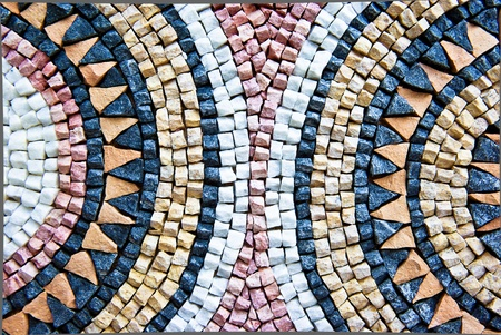 colorful moroccan mosaic as a background