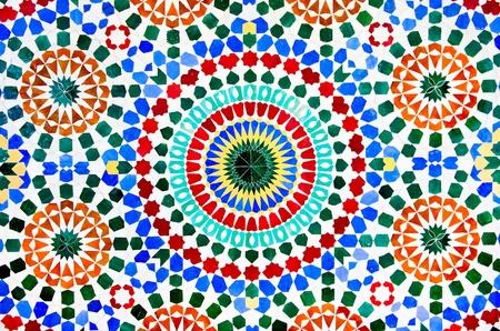 marrakesh: colorato marocchino parete a mosaico come sfondo