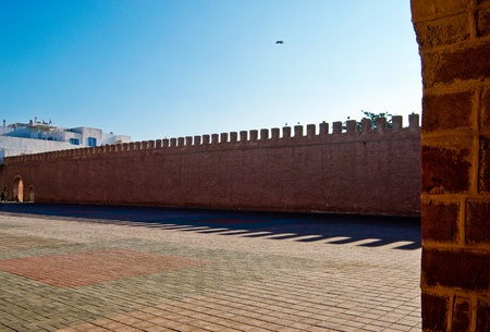 The wall of Essaouira City, Morocco