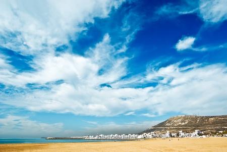 Agadir sand beach, Morocco
