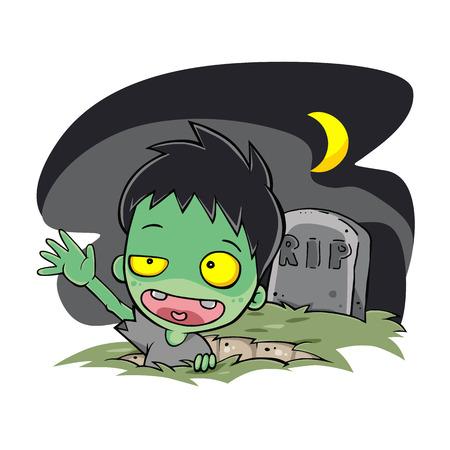 zombie wakeup night Foto de archivo - 108962938