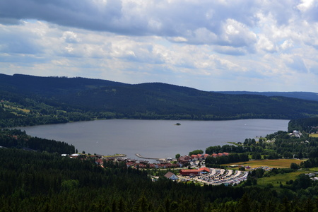 lipno: view of the Lipno lake in the Czech Republic
