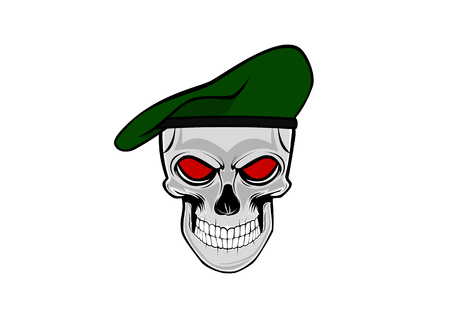skull soldier with the green beret